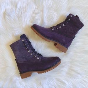 Timberland Shoes - Timberland Jayne Dark Purple Suede Roll Top Boots